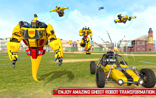 Flying Ghost Robot Car Game apkpoly screenshots 11