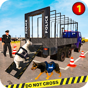 US Police Dog Transport: Multi Level Parking Game
