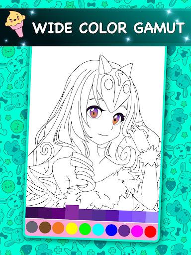 Kawaii - Anime Animated Coloring Book  screenshots 12