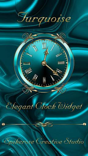 Turquoise Clock Widget  screenshots 1