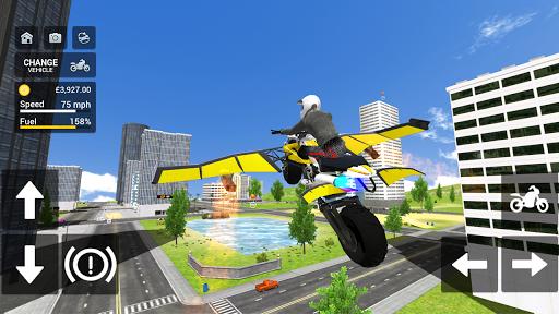 Flying Motorbike Simulator android2mod screenshots 10
