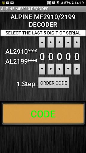 MF2910 Radio Code Decoder  screenshots 1