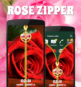 Rose Zipper Lock Screen For Pc | How To Install – (Windows 7, 8, 10 And Mac) 4