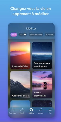 Code Triche Calm - Méditer, dormir, se relaxer (Astuce) APK MOD screenshots 3