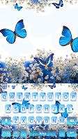 Spring Blue Butterfly Keyboard Theme