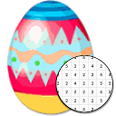 Easter Egg Coloring Game - Color By Number