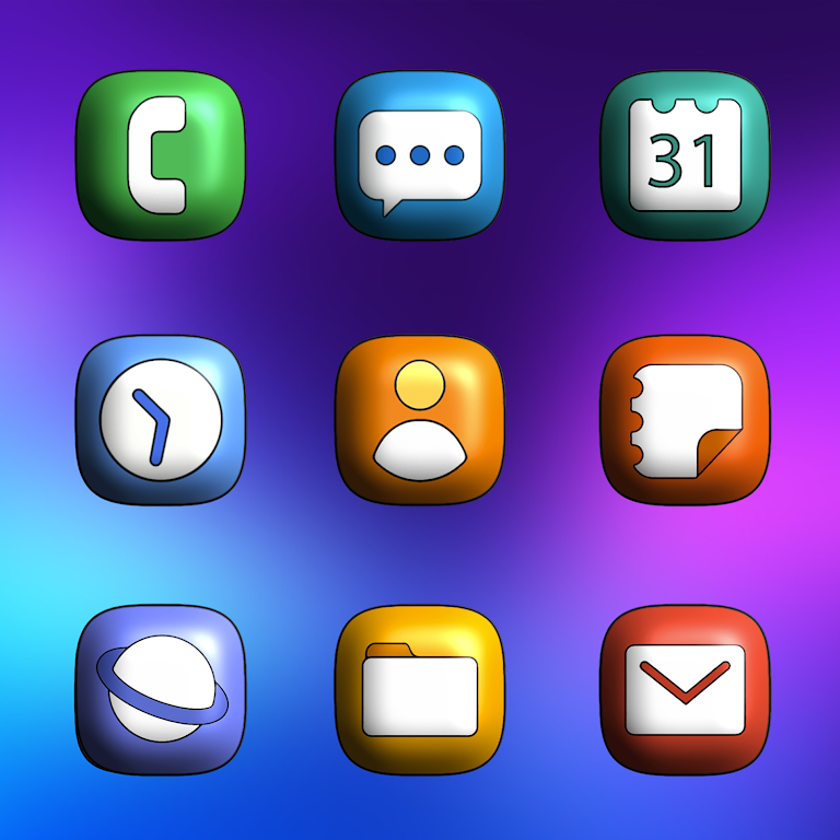 One UI 3D - Icon Pack  poster 1