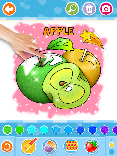 Fruits and Vegetables Coloring Game for Kids  screenshots 12