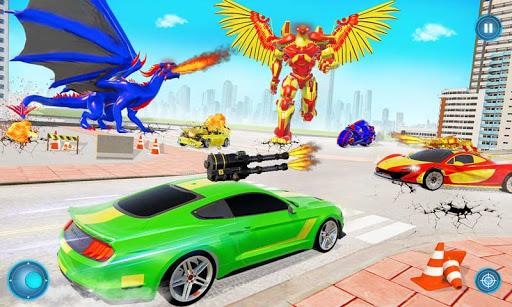 Flying Spy Pigeon Robot Transform Bike Robot Games  screenshots 1