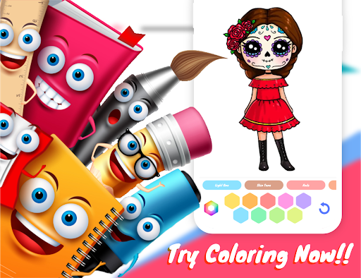Drawely - How To Draw Cute Girls and Coloring Book modavailable screenshots 14