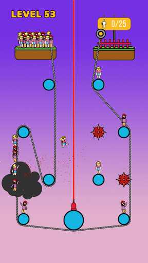 Rope Rescue! - Unique Puzzle 1.0.0 Screenshots 1