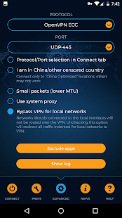 VPN.AC Client Screenshot