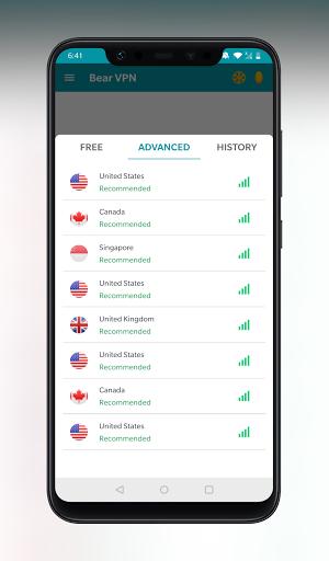 Bear VPN - Free & Unlimited VPN android2mod screenshots 3