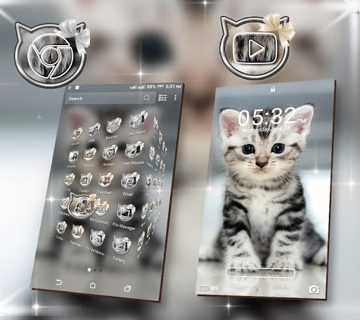 Cute Cat Launcher Theme modavailable screenshots 3