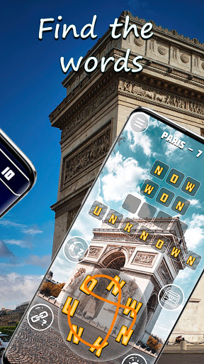 Words & travel puzzle: offline and free  screenshots 3
