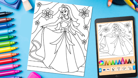 Coloring game for girls and women