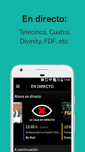 Mitele - Mediaset Spain VOD TV apktram screenshots 5