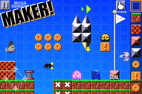 Super Mega Runners:Stage maker Create your game Screenshot