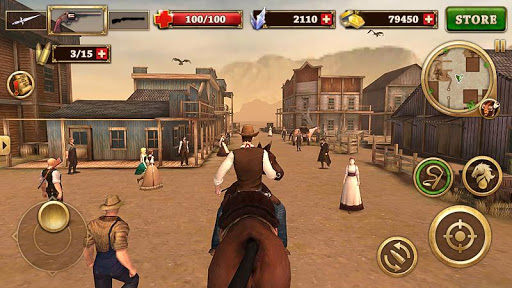 Code Triche Canonnier Ouest - West Gunfighter  APK MOD (Astuce) screenshots 2