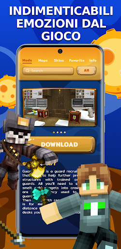 Scarica Mods Mappe Skin per Minecraft mod apk