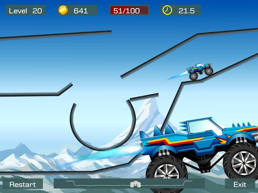 Monster Stunts -- monster truck stunt racing game apkslow screenshots 8