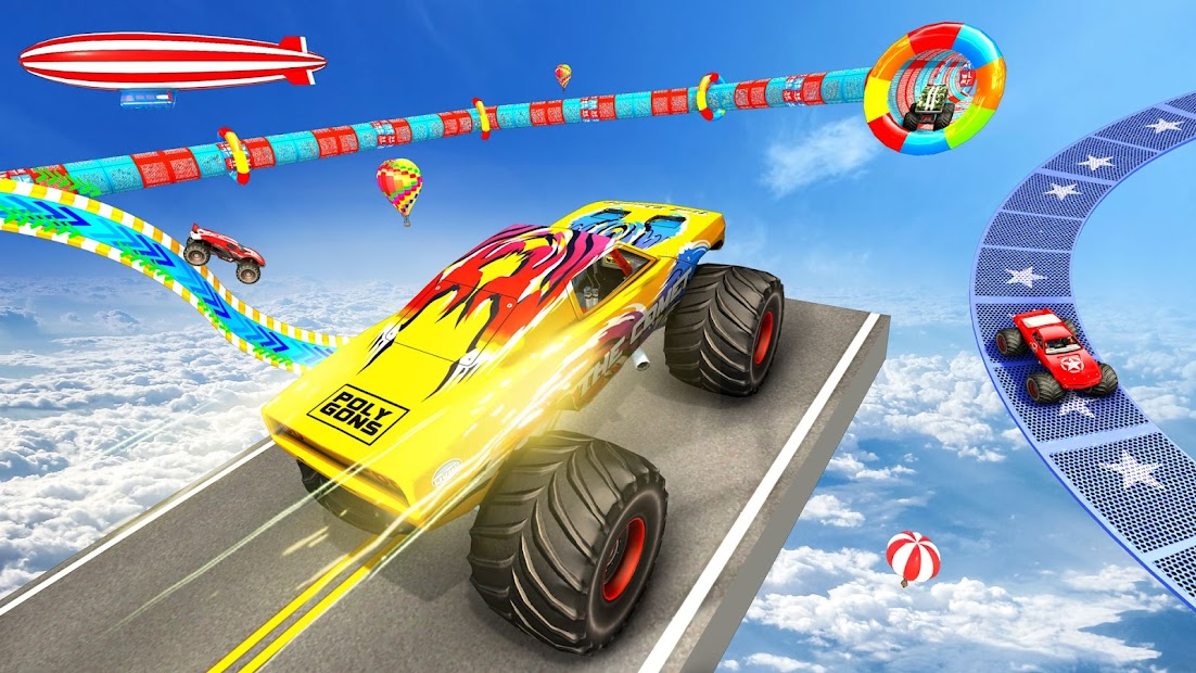 Extreme Monster Truck Stunts: Car Stunt Games 2021 screenshot 2