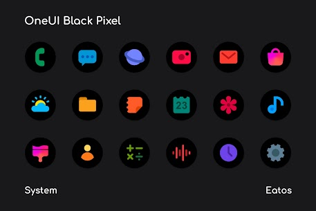 OneUI 3 Black – Round Icon Pack 1