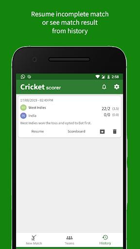 Cricket Scorer 2.9.0 Screenshots 5