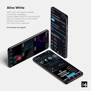 Aline White icon pack – linear white icons For Android 2
