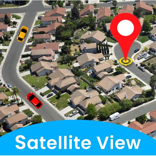 Live Satellite View ng mapa-GPS boses Navigation