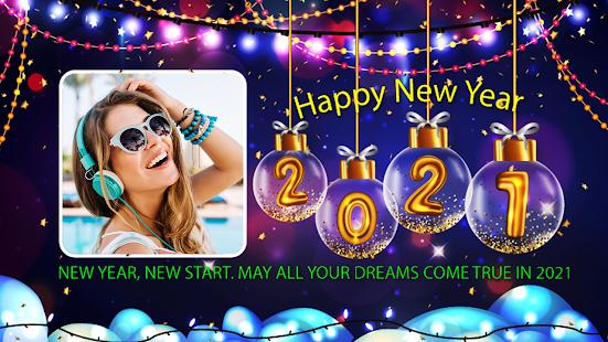 Happy New Year Photo Frame 2021 photo editor 2.2 Screenshots 4