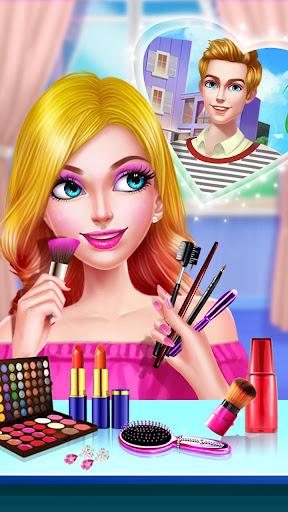 ud83cudfebud83dudc84School Date Makeup - Girl Dress Up  screenshots 2