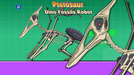 Pterosaur Dino Fossils Robot Age modiapk screenshots 1