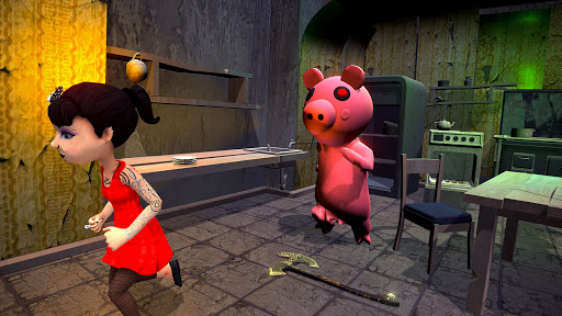 Piggy Family 3D: Scary Neighbor Obby House Escape screenshots 2
