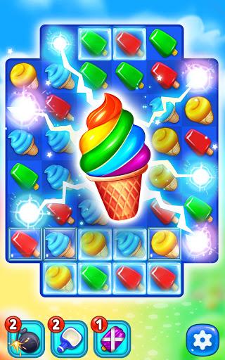 Ice Cream Paradise - Match 3 Puzzle Adventure Apkfinish screenshots 5