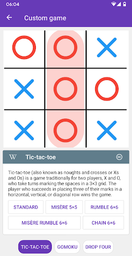 Tic Tac Toe Collection 0.22 screenshots 1
