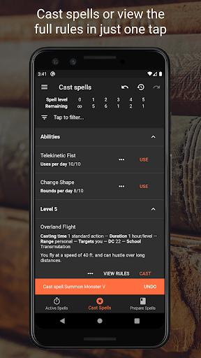 Spell Tracker for Pathfinder RPG screenshots 1