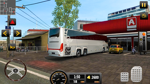 Luxury Tourist City Bus Driver ud83dude8c Free Coach Games screenshots 7