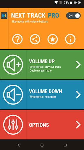 Download APK: Next Track: Skip tracks with volume buttons v1.25 [Pro]