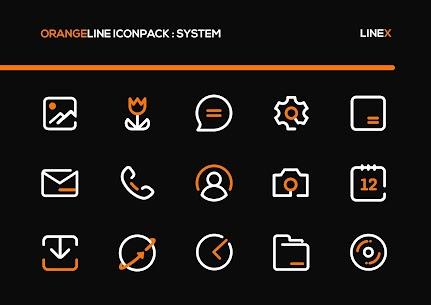 OrangeLine IconPack Pro Apk: LineX (Patched) 2