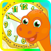 Dino Time: free learning clock and time for kids