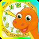 DinoTime:子供のための時計で時間をトレーニング。何時間を把握するためにあなたの子供を教えます - Androidアプリ