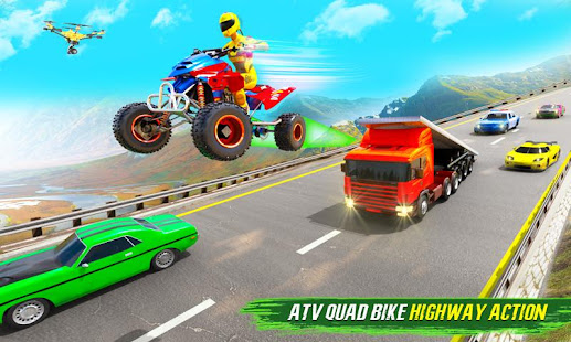 Light ATV Quad Bike Racing, Traffic Racing Games 19 Screenshots 1