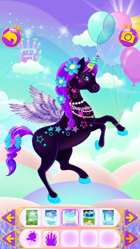 Unicorn Dress Up - Girls Games apkslow screenshots 11