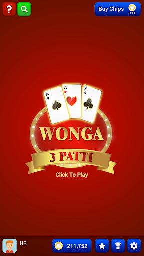 wonga 3 patti screenshot 1
