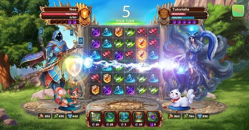 Heroes of Alterant: Match 3 RPG APK MOD – Pièces de Monnaie Illimitées (Astuce) screenshots hack proof 1