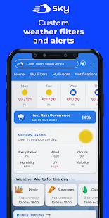 Sky Weatherman: Weather alerts customized