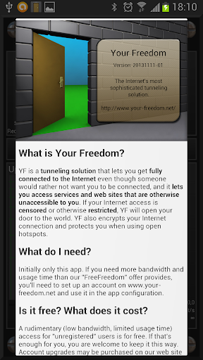 Your Freedom VPN Client 20210106-01 Screenshots 1