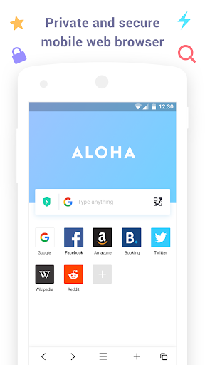 Aloha Browser Lite - Private browser and free VPN 1.6.5 Screenshots 1