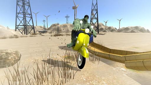 super hero bike mega ramp - racing simulator screenshot 3